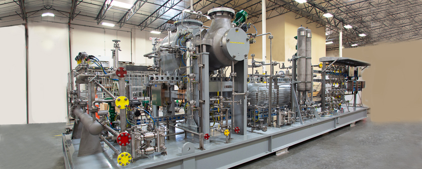 Fuel metering and regulation skid fabricated by CAI