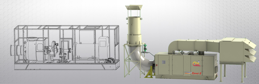 Drawing and rendering of Spirit 2 MW power generation system