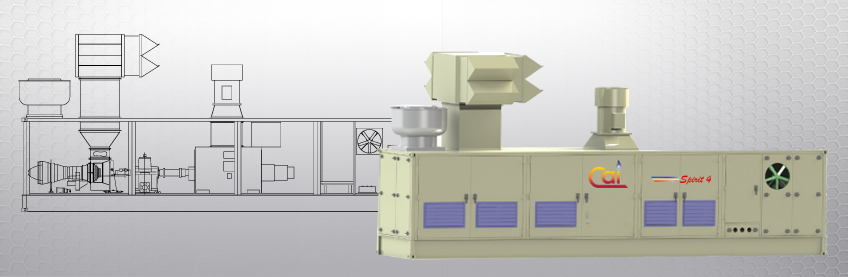 Spirit 4 MW gas turbine generator drawing and 3-D rendering